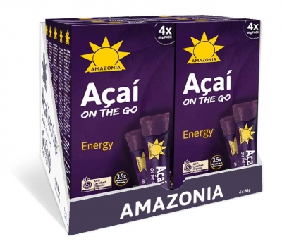 AMAZONIA ON THE GO ENERGY ORGANIC 4x80g