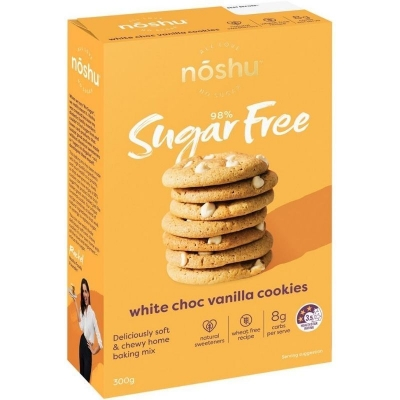NOSHU WHITE CHOC VANILLA COOKIE MIX 300g
