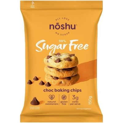 NOSHU DARK CHOC BAKING CHIPS 150g