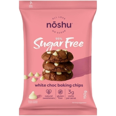 NOSHU WHITE CHOC BAKING CHIPS 150g