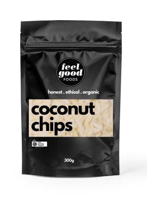 FEEL GOOD FOODS ORGANIC COCONUT CHIPS 300g
