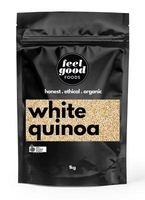 FEEL GOOD FOODS ORGANIC WHITE QUINOA 1KG