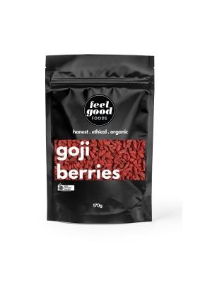FEEL GOOD FOODS ORGANIC GOJI BERRIES 170g
