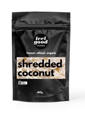 FEEL GOOD FOODS ORGANIC SHREDDED COCONUT 400g
