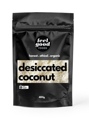 FEEL GOOD FOODS ORGANIC DESICCATED COCONUT 400g