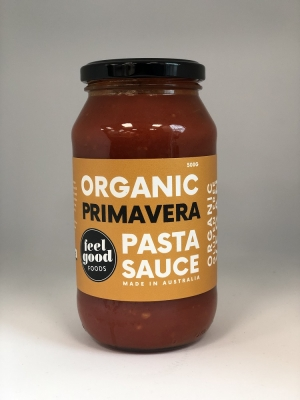 FEEL GOOD FOODS PASTA SAUCE - PRIMAVERA 500g