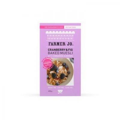 FARMER JO CRANBERRY & FIG BAKED MUESLI 400g