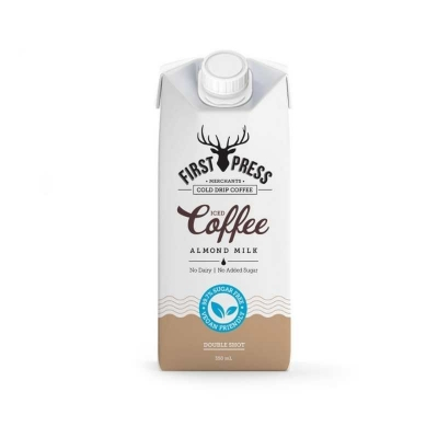 FIRST PRESS ALMOND MILK ICED COFFEE NO SUGAR 350ml