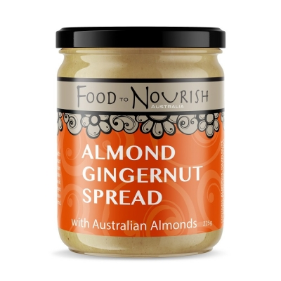 FTN ALMOND GINGERNUT SPREAD 225g (REDUCED PRICING)