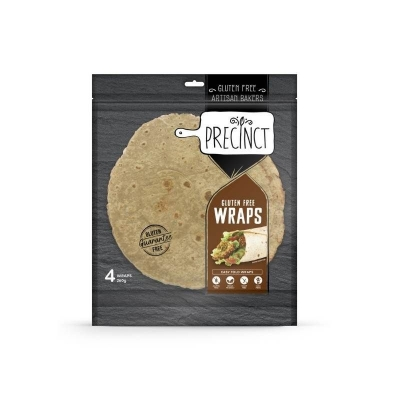 GF PRECINCT BUCKWHEAT & CHIA GF WRAP (PACK OF 4)
