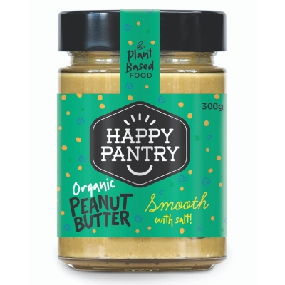 HAPPY PANTRY - SALTED ORGANIC PEANUT BUTTER SMOOTH 300g