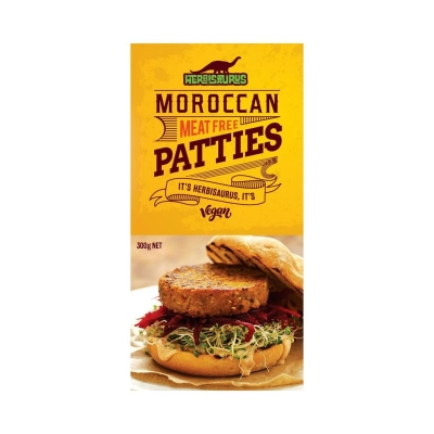 HERBISAURUS MOROCCAN MEAT FREE PATTIES 300g
