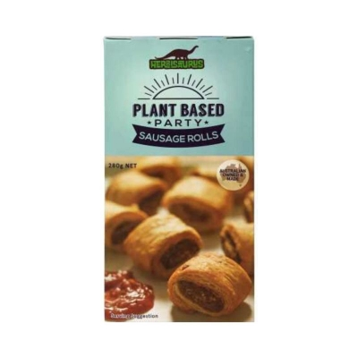 HERBISAURUS PLANT BASED PARTY SAUSAGE ROLLS 280g