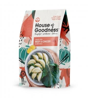 HOUSE OF GOODNESS BEEF & GINGER DUMPLINGS (12 pcs) 285g