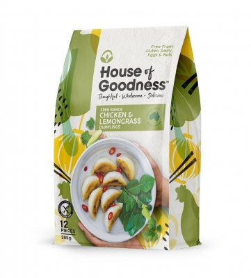 HOUSE OF GOODNESS CHICKEN & LEMONGRASS DUMPLINGS (12 pcs) 285g