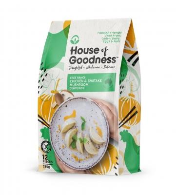 HOUSE OF GOODNESS CHICKEN & SHIITAKE MUSHROOM DUMPLINGS (12 pcs) 285g