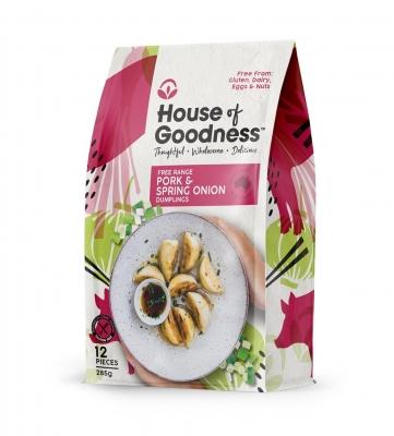 HOUSE OF GOODNESS PORK & SPRING ONION DUMPLINGS (12 pcs) 285g