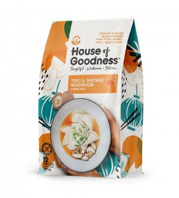 HOUSE OF GOODNESS TOFU & SHITAKE MUSHROOM DUMPLINGS (12 pcs) 275g