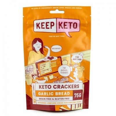 KEEP KETO - GARLIC BREAD CRACKERS 75g