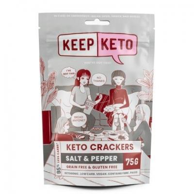 KEEP KETO - SALT & PEPPER CRACKERS 75g