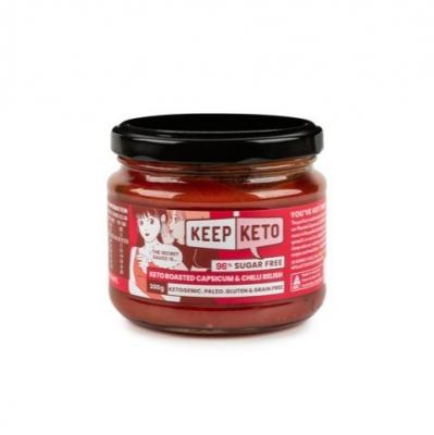 KEEP KETO - ROASTED CAPSICUM & CHILLI RELISH 300g