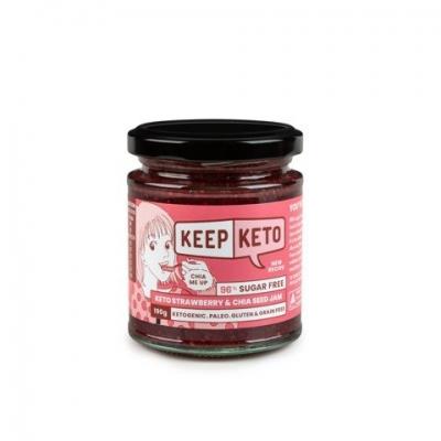 KEEP KETO - STRAWBERRY & CHIA SEED JAM 190g