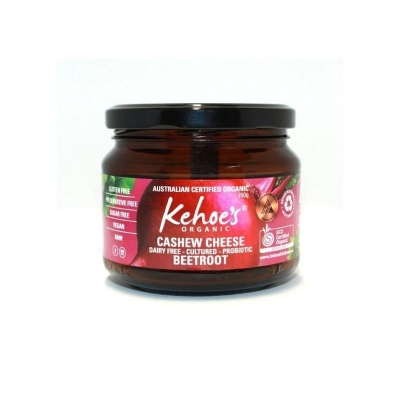KEHOES ORGANIC BEETROOT CASHEW CHEESE DIP 250g