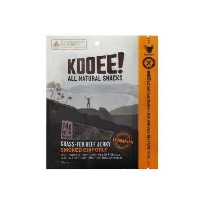 KOOEE ORGANIC BEEF JERKY SMOKED CHIPOTLE 30g