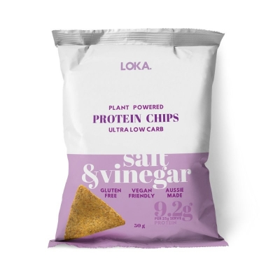 LOKA PROTEIN CHIPS - SALT & VINEGAR 50g
