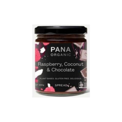 PANA ORGANIC RASPBERRY COCONUT & CHOC SPREAD 200g