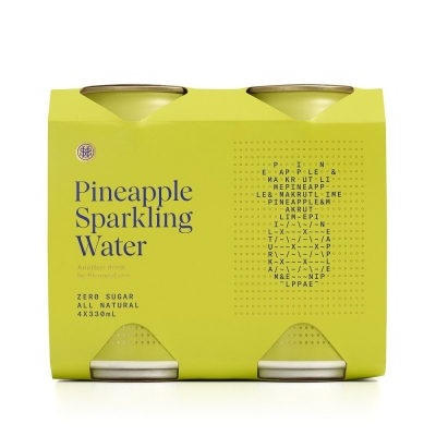 STRANGELOVE CAN - PINEAPPLE SPARKLING WATER 330ml 4-PACK
