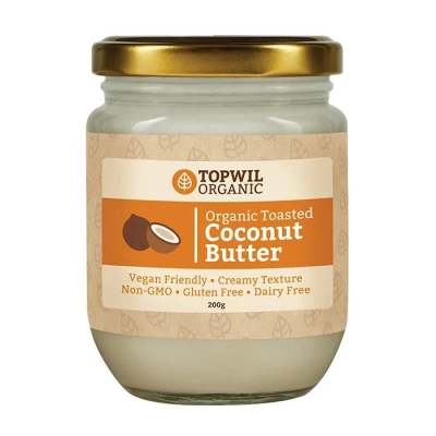 TOPWIL ORGANIC TOASTED COCONUT BUTTER 200g