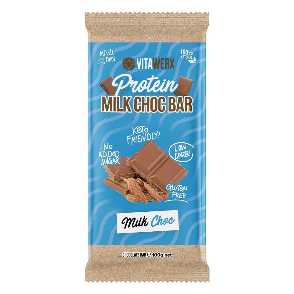 VITAWERX MILK CHOCOLATE BAR 100g