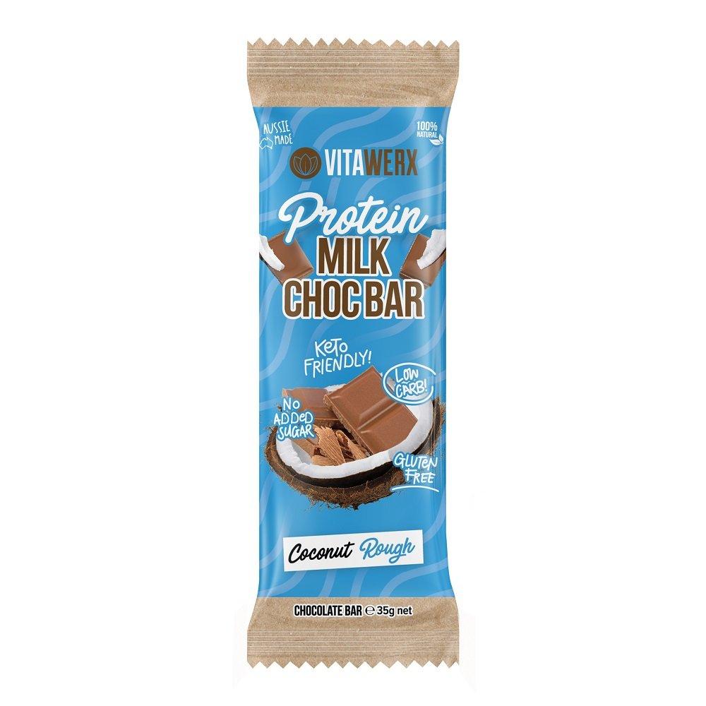 VITAWERX MILK CHOC COCONUT ROUGH BAR 35g