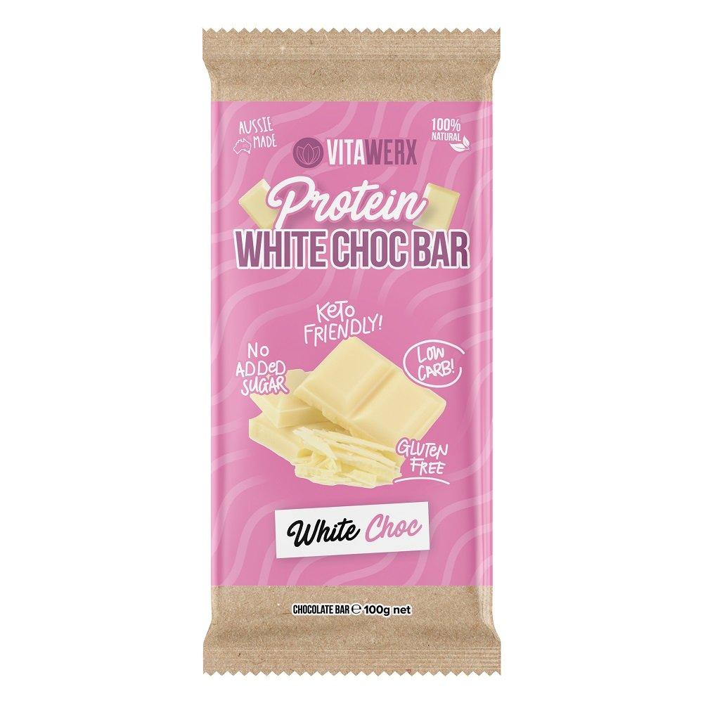 VITAWERX WHITE CHOCOLATE BAR 100g