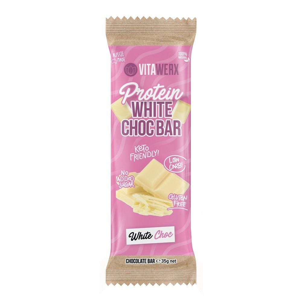 VITAWERX WHITE CHOCOLATE BAR 35g