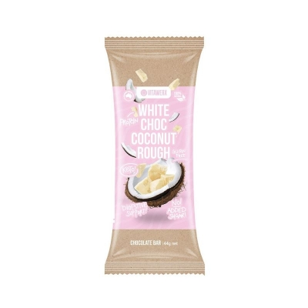 VITAWERX WHITE CHOC COCONUT ROUGH BAR 35g
