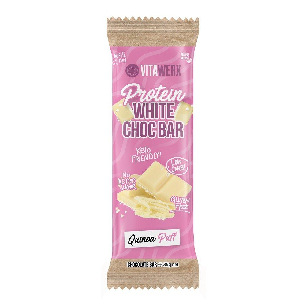 VITAWERX WHITE CHOC QUINOA PUFF BAR 35g